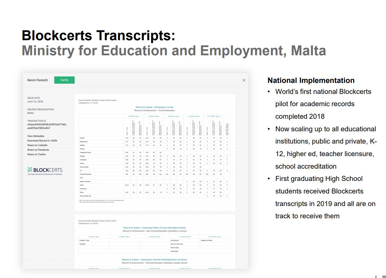 Blockcertsによる教員のスキルマップ(マルタ政府より)